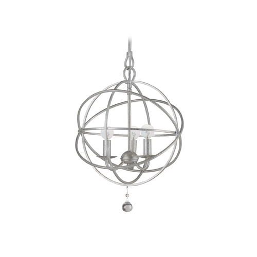 Crystorama Lighting Pendant Light in Olde Silver Finish 9225-OS