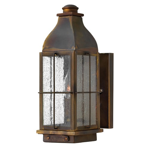 Hinkley Industrial Seeded Glass Outdoor Wall Light Bronze Hinkley 2040SN