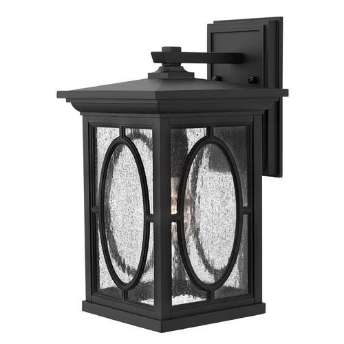 Hinkley Seeded Glass Outdoor Wall Light Black Hinkley 1494BK