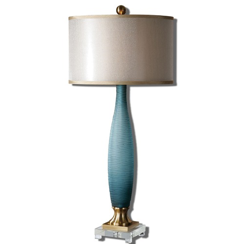 Uttermost Lighting Uttermost Alaia Blue Glass Table Lamp 26582-1