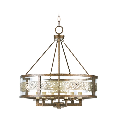 Livex Lighting Livex Lighting Waverly Palacial Bronze with Gilded Accents Pendant Light with Drum Shade 6258-64