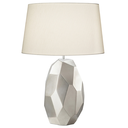 Fine Art Lamps Fine Art Lamps Recollections Platinized Silver Leaf Table Lamp with Drum Shade 825910ST
