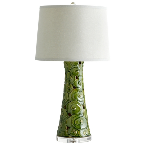Cyan Design Cyan Design Eva Emerald Glaze Table Lamp with Drum Shade 05894