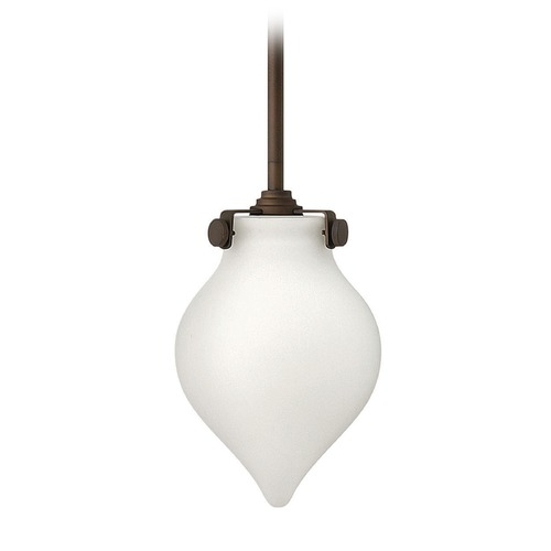 Hinkley Lighting Hinkley Lighting Congress Oil Rubbed Bronze LED Mini-Pendant Light with Urn Shade 3135OZ-LED