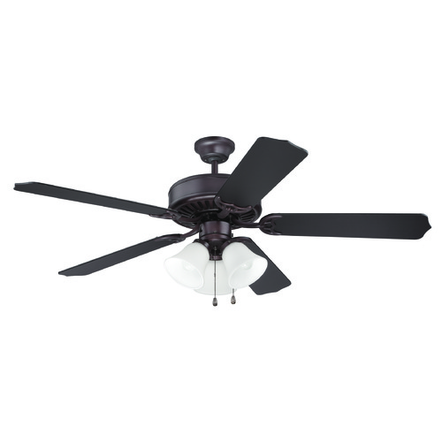 Craftmade Lighting Craftmade Pro Builder 205 Oiled Bronze Ceiling Fan with Light K10423
