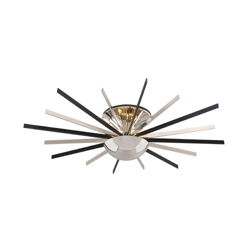 Troy Lighting Troy Lighting Atomic Polished Nickel with Matte Black LED Semi-Flushmount Light C4804