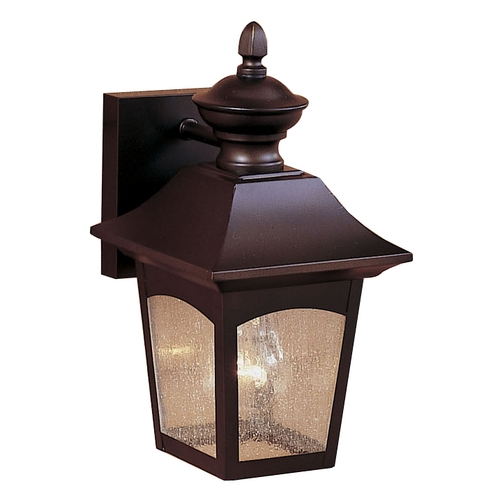 Feiss Lighting Outdoor Wall Light with White Glass in Oil Rubbed Bronze Finish OL1000ORB