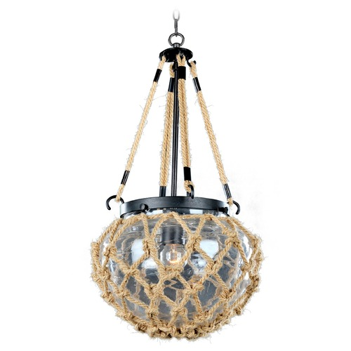 Kalco Lighting Kalco Hatteras Satin Bronze Mini-Pendant Light with Bowl / Dome Shade 308510SZ