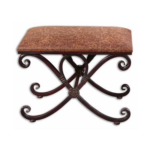 Uttermost Lighting Bench in Dark Coffee Bronze Finish 26122