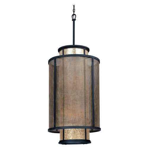 Troy Lighting Pendant Light with Silver Mica Shades in Old Silver Finish F3104