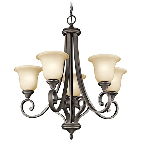 Kichler Lighting Kichler Chandelier with Amber Glass in Olde Bronze Finish 43156OZ