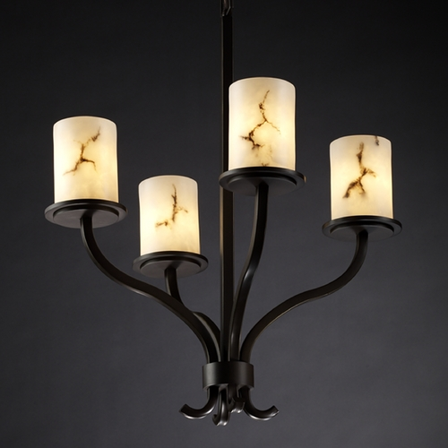 Justice Design Group Justice Design Group Lumenaria Collection Chandelier FAL-8780-10-DBRZ