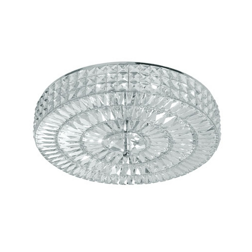 Crystorama Lighting Crystal Semi-Flushmount Light with Clear Glass in Polished Chrome Finish 818-CH-CL-MWP