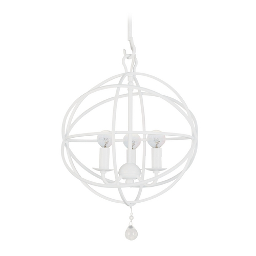 Crystorama Lighting Modern Pendant Light in Wet White Finish 9225-WW