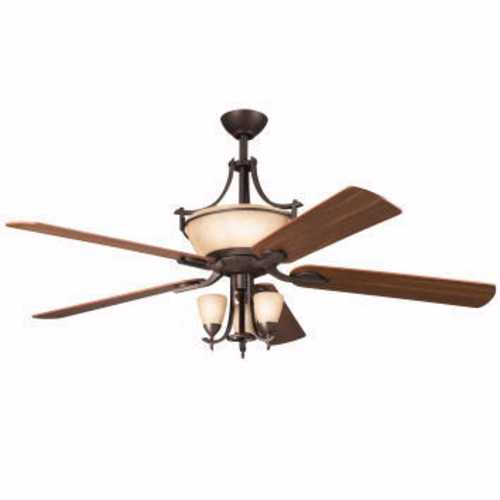 Kichler Lighting Kichler 60-Inch Ceiling Fan with Five-Blades and Light Kit 300011OZ