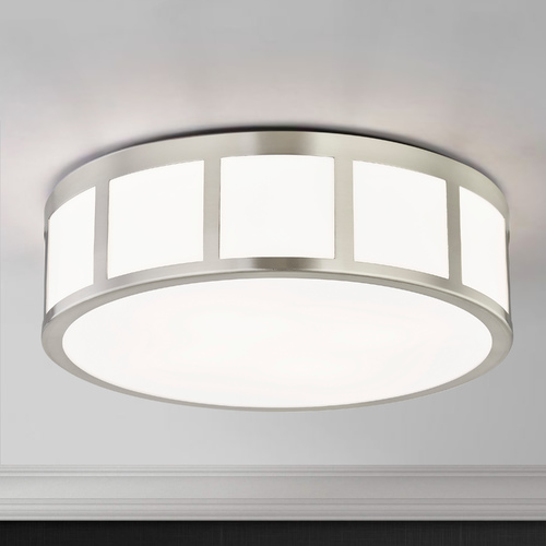 Design Classics Lighting 13-Inch Satin Nickel Flushmount Light 1872-09
