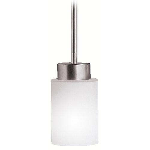 Kichler Lighting Kichler Modern Mini-Pendant Light with White Glass 3030NI