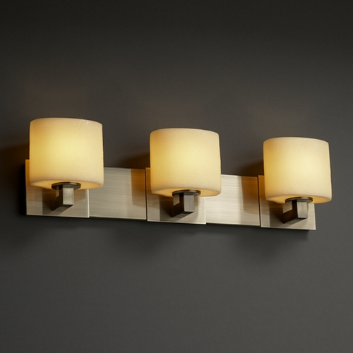 Justice Design Group Justice Design Group Candlearia Collection Bathroom Light CNDL-8923-30-AMBR-ABRS