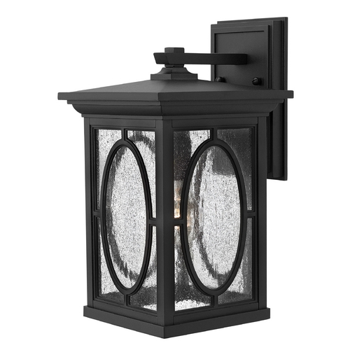Hinkley Lighting Outdoor Wall Light with Clear Glass in Black Finish 1494BK-GU24