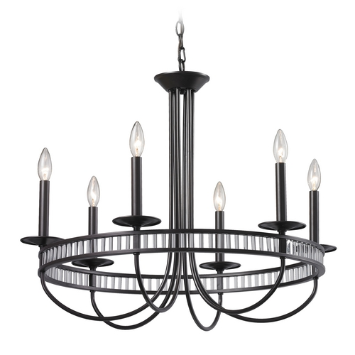 Elk Lighting Modern Chandelier in Aged Bronze Finish 10241/6