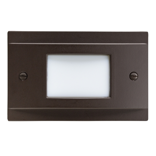 Kichler Lighting Kichler Lighting Step and Hall Light Architectural Bronze LED Recessed Step Light 12665AZ