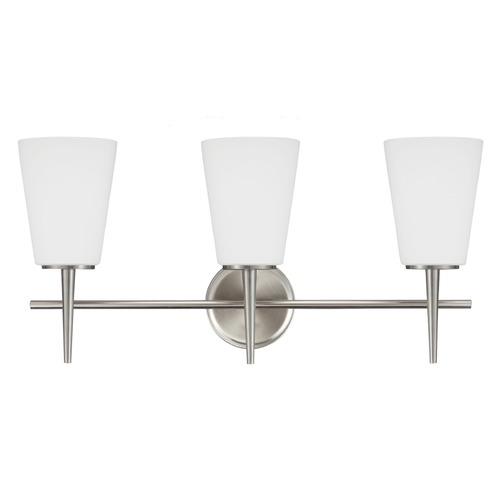 Sea Gull Lighting Sea Gull Lighting Driscoll Brushed Nickel Bathroom Light 4440403-962