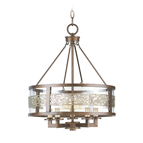 Livex Lighting Livex Lighting Waverly Palacial Bronze with Gilded Accents Pendant Light with Drum Shade 6257-64