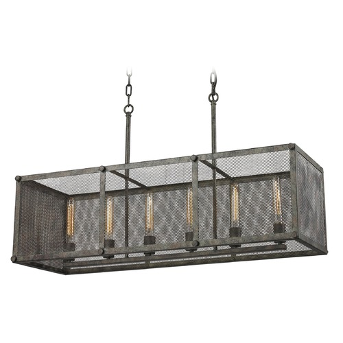 Elk Lighting Elk Lighting Perry Malted Rust Island Light with Rectangle Shade 31511/6