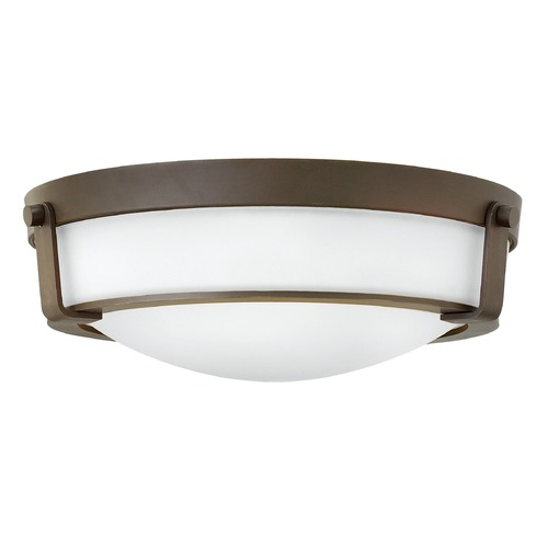 Hinkley Lighting Hinkley Lighting Hathaway Olde Bronze Flushmount Light 3225OB-WH