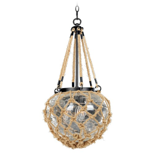 Kalco Lighting Kalco Hatteras Satin Bronze Pendant Light with Bowl / Dome Shade 308511SZ