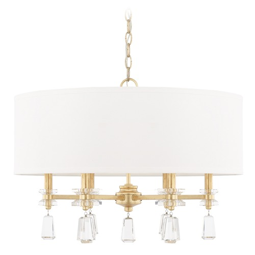 Capital Lighting Capital Lighting Milan Capital Gold Pendant Light with Drum Shade 319742CG-676