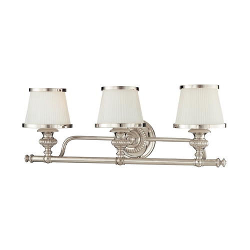 Hudson Valley Lighting Bathroom Light with White Glass in Polished Nickel Finish 2003-PN
