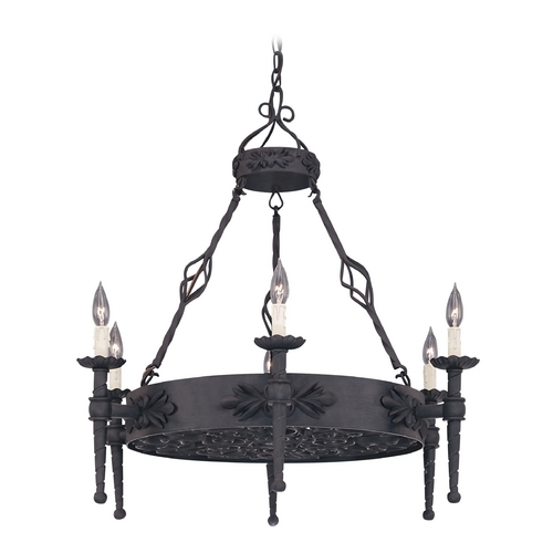 Designers Fountain Lighting Chandelier in Natural Iron Finish 9186-NI