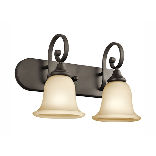Kichler Lighting Kichler Bathroom Light with Amber Glass in Olde Bronze Finish 45054OZ