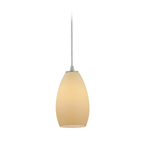 Access Lighting Modern Mini-Pendant Light with Beige / Cream Glass 28012-2C-BS/CRM