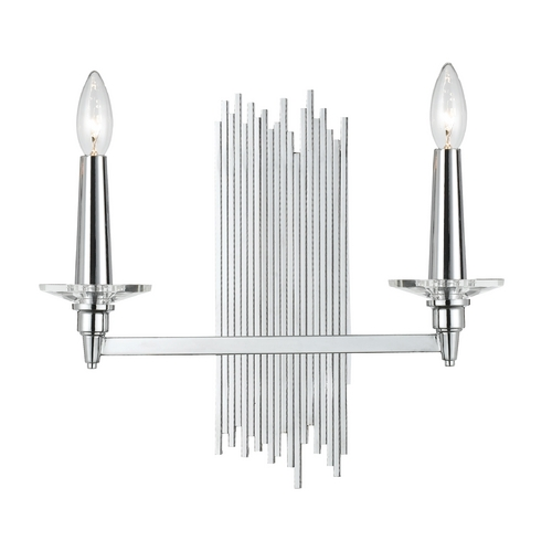 AF Lighting Modern Sconce Wall Light in Chrome Finish 8214-2W