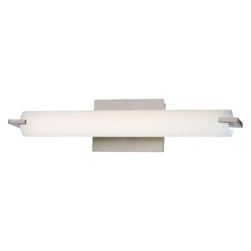 George Kovacs Lighting Tube Brushed Nickel LED Bathroom Light - Vertical or Horizontal Mounting P5044-084-L