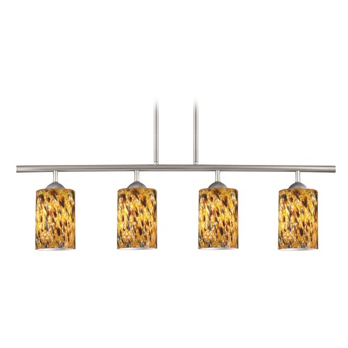 Design Classics Lighting Design Classics Axel Fuse Satin Nickel Island Light with Cylindrical Shade 718-09 GL1005C