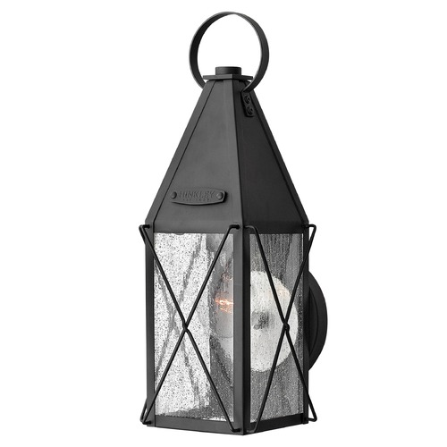 Hinkley Lighting Outdoor Wall Light with Clear Glass in Black Finish 1840BK
