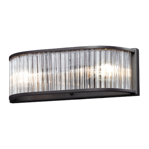 Elk Lighting Modern Bathroom Light in Aged Bronze Finish 10326/2