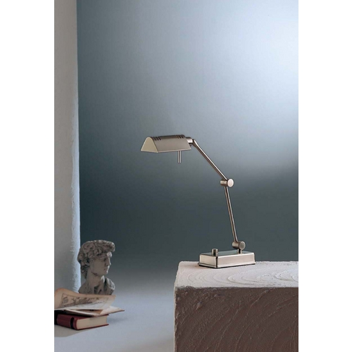 Holtkoetter Lighting Holtkoetter Modern Swing Arm Lamp in Satin Nickel Finish 8346 SN