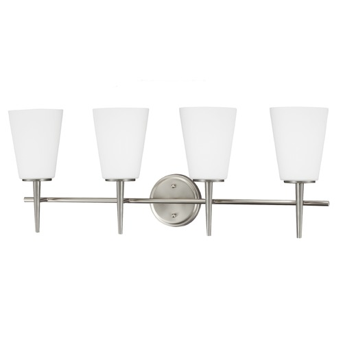 Sea Gull Lighting Sea Gull Lighting Driscoll Brushed Nickel Bathroom Light 4440404-962