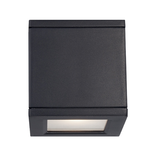 Modern Forms by WAC Lighting Modern Forms Rubix Black LED Outdoor Wall Light WS-W2505-BK