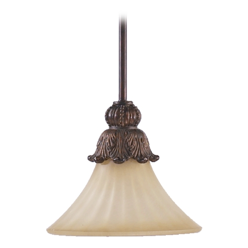 Quorum Lighting Quorum Lighting Madeleine Corsican Gold Mini-Pendant Light with Bell Shade 3330-88