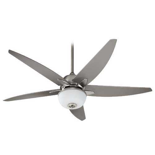Quorum Lighting Quorum Lighting Rockwell Satin Nickel Ceiling Fan with Light 19525-65