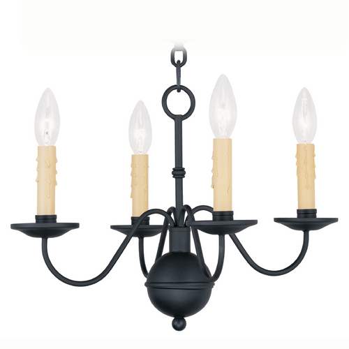 Livex Lighting Livex Lighting Heritage Black Mini-Chandelier 4494-04