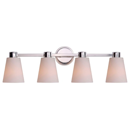 Kenroy Home Lighting Kenroy Home Lighting Scarsdale Polished Nickel Bathroom Light 93454PN