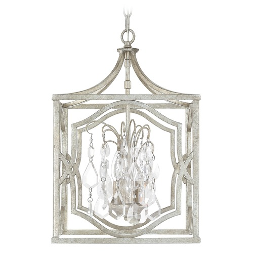 Capital Lighting Capital Lighting Blakely Antique Silver Pendant Light 9481AS-CR
