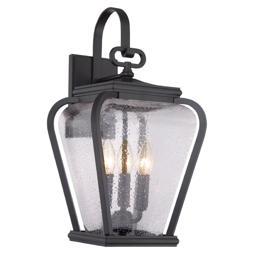 Quoizel Lighting Quoizel Province Mystic Black Outdoor Wall Light PRV8409K