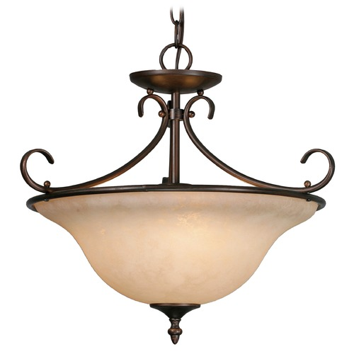 Golden Lighting Golden Lighting Homestead Rbz Rubbed Bronze Pendant Light 8606-SF RBZ-TEA